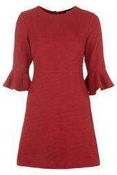 PETITE Textured Bell Sleeve Dress