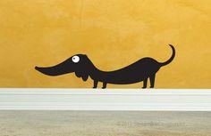 Dachshund Vinyl Wall Art by StreamlineDesign on Etsy, $12.9 #dachshund Vinyl Wall Art by StreamlineDesign on Etsy, $12.95