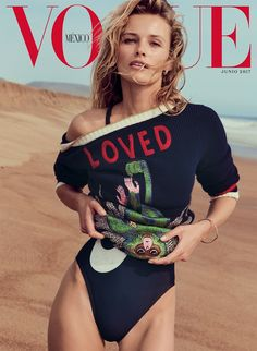 Edita Vilkeviciute Pose on Vogue Mexico June 2017 Cover
