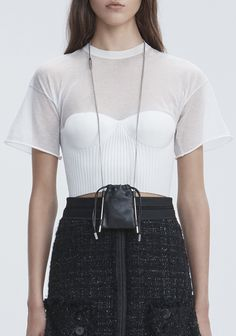 Shop Accessories  for Women at Alexander Wang Offical site; browse our collection including accessories, bags, shoes, denims, ready to wear. Leather Art, Embroidered Bag, Knitwear Fashion, Small Leather Goods, Small Bags, Mini Bag, Alexander Wang, Pouch, My Style