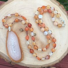 A personal favorite from my Etsy shop https://www.etsy.com/listing/550369659/carnelian-garnet-and-sunstone-beaded