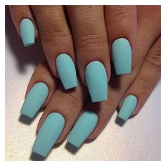Need some inspiration for your next manicure? How about these matte nail art styles? Matte Nail Colors, Aqua Nails, Matte Acrylic Nails, Blue Matte Nails, Turquoise Acrylic Nails, Blue Nail, White Nail, Trendy Nails, Cute Nails