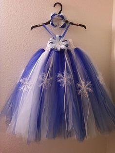 Snowflake Winter Wonderland Tutu Dress- I think I'd do in a lighter, ice blue.
