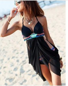 Womens Bohemian Swimwear Cross Sheer brand by LUCKYWINDFLOWER, $39.99 --- Crystal, this makes me think of you. :)