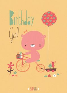 Birthday Girl greeting card - Available for licensing