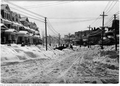 Toronto Winter Photographs Sunnyside Avenue after ice storm 1918