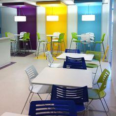 Break room, Lunch area furniture and design ideas.