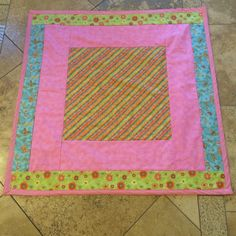 Pink Baby Quilt for Project Linus.