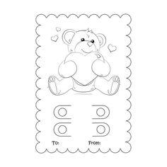 SVG - Coloring Card svg - Valentine Crayon Card Template- Valentine Crayon Card - Kids Valentine - C Printable Valentines Coloring Pages, Valentines Day Coloring, Kinder Valentines, Valentine Day Crafts, Valentine's Cards For Kids, Valentine's Day Crafts For Kids, Color Card, Kindergarten, Jar