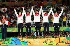 Results of the Men's #ArtisticGymnastics Team Final earlier this evening  #Gold-  #JPN #Silver- #RUS #Bronze- #CHN