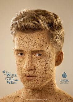 Ouro Azul: Face, 1 | #ads #marketing #creative #werbung #print #poster #advertising #campaign < found on www.adsoftheworld.com pinned by www.BlickeDeeler.de | Follow us on www.facebook.com/blickedeeler