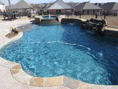 Blue Granite Pebble Sheen Pool Build in North Fort Worth