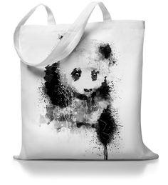 Panda Power - Jutebeutel Stofftasche von Kane Grey auf DaWanda.com