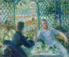 An poster sized print, approx (other products available) - Lunch at the Restaurant Fournaise (The Rowers& Lunch), Renoir, Pierre-Auguste Oil on canvas. - Image supplied by Mary Evans Prints Online - Poster printed in the USA Pierre Auguste Renoir, Painting Prints, Fine Art Prints, Framed Prints, Oil On Canvas, Canvas Art, Canvas Prints, Rembrandt, August Renoir