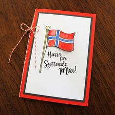 syttende mai greeting card #Norwegian #Hurra #17.mai
