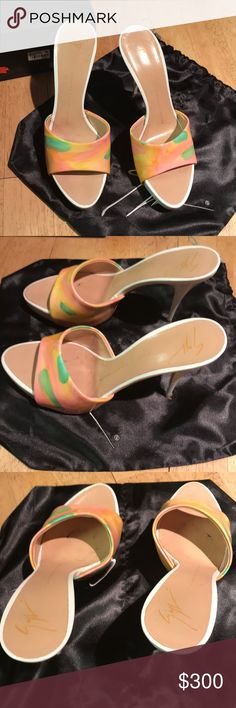 Giuseppe Zanotti Design Giuseppe Zanotti  Vernice Janeiro E90265 - product code  Size 38/8.5   I've worn the shoes once and they come with heel replacements. Still in original box and bag. Giuseppe Zanotti Shoes Heels