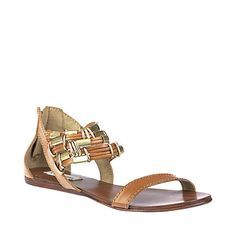 Too many cuuute sandals!   Ahhh! SINAMON COGNAC LEATHER women's sandal flat ankle strap - Steve Madden