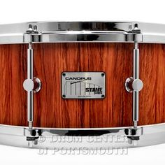 Canopus Stave Bubinga Snare Drum 14x6 : Stave Bubinga shell in natural oil finish, die cast hoops, 8 chrome-plated solid brass single point lugs, Vintage snare wires.  Purchase Here: http://www.drumcenternh.com/canopus-stave-bubinga-snare-drum-14x6-oil-finish.html