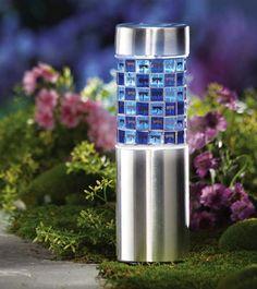 Blue Dragonfly Mosaic Outdoor Solar Light