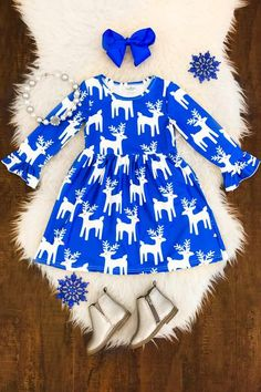 Debbie Deer Bell Sleeve Dress