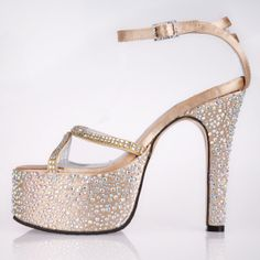 "Style No.B151004,Dyeable Fancy 5"" Rhinestones Pointy Toe Sandals - Ivory Party shoes (11 colors),  Read More:    http://weddingspurple.com/index.php?r=fancy-5-rhinestones-pointy-toe-party-special-occasion-sandals.html #Wedding #Shoes"