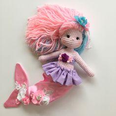 Crochet amigurumi mermaid Nathaliesweetstitches