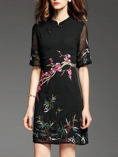 Latest unique fashion dresses StyleWe provides short and long cocktail dresses for wedding and prom. Simple Dresses, Cheap Dresses, Pretty Dresses, Beautiful Dresses, Casual Dresses, Short Dresses, Embroidery Fashion, Retro Dress, Designer Dresses