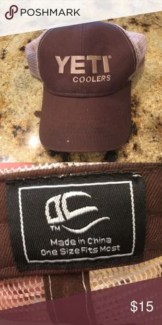d6eee18a20b92 Yeti Coolers cap Brown and tan Yeti cap Very good condition Yeti  Accessories Hats