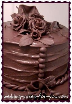 A chocolate ganache recipe using Ghiradelli chocolate from Wedding Cakes For You