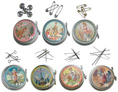 Specialty Pin Tins from Sajou -love this set of sewing notions.  love the whole company
