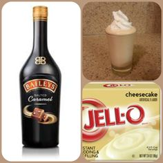 Salted Caramel Cheesecake Pudding Shots  1 small Pkg.cheesecake instant pudding 3/4 Cup Milk 3/4 Cup Baileys salted caramel Irish cream 8oz tub Cool Whip  Directions 1. Whisk together the milk, liquor, and instant pudding mix in a bowl until combined. 2. Add cool whip a little at a time with whisk. 3.Spoon the pudding mixture into shot glasses, disposable shot cups or 1 or 2 ounce cups with lids. Place in freezer for at least 2 hours