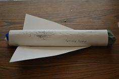 I'd Rather Be Changing Diapers: Craft It Friday- Paper Towel Roll Space Shuttle