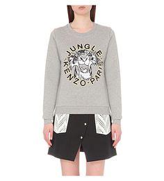 KENZO Kenzo X Jungle Book Shere Khan Cotton-Jersey Sweatshirt. #kenzo #cloth #tops