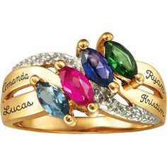 Personalized Keepsake Lustre Mother's Birthstone Ring