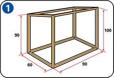 Construire un clapier à lapin - Assembler la structure