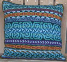 Ravelry: Celtic Pillow pattern by Janine Bajus