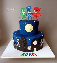 Children and Young Pj Masks Birthday Cake, Toddler Birthday Cakes, Pig Birthday Cakes, Boy Birthday Parties, 4th Birthday, Pjmask Party, Party Cakes, Party Ideas, Torta Pj Mask
