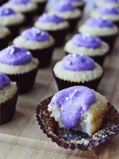 Lavender and Vanilla Cupcakes - Our 23 Favorite Ways to Use Lavender | Country Living Magazine