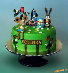 Krteček a kamarádi Mole, Cake Ideas, Birthday Cake, Cakes, Tv, Desserts, Kids, Beautiful Cakes, Tailgate Desserts