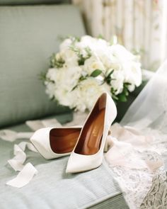 Sweet simplicity. These wintry pointed-toe Malone Souliersheels are beautifully refined, just like the Austin villa wedding they took part in.