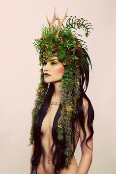 It can be all about headwear (but maybe don't come naked) a simple green dress and a bunch of leaves in your hair? You're a forest elf now!