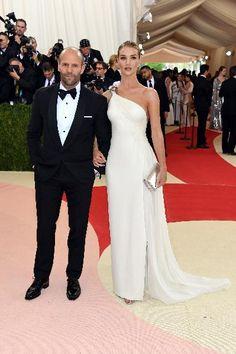Jason Statham (L) and Rosie Huntington-Whiteley in Ralph Lauren