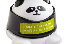 This cute Panda shaped attaches documents just as a conventional stapler does without the need for staples, whilst also brightening up your office desk.