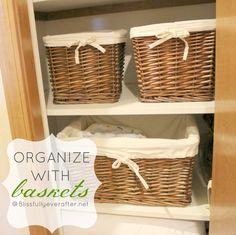 Linen Closet Organization - Blissfully Ever After