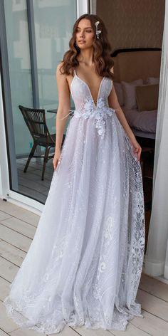 24 Dimitrius Dalia Wedding Dresses For Modern Bride ❤ dimitrius dalia wedding dresses royal collection a line lace deep v neck spaghetti straps ❤ See more: http://www.weddingforward.com/dimitrius-dalia-wedding-dresses/ #weddingforward #wedding #bride