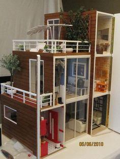 Aivan sairaan makee moderni miniatyyrikämppä! Miniaturas modernas casas de muñecas - Ana Servio