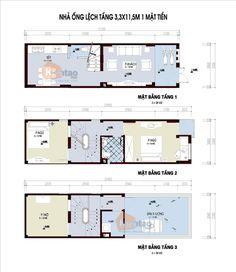 Mặt bằng thiết kế nhà lô phố đẹp 3 tầng 38m2, nhà đẹp 3 tầng, nhà chia lô đẹp