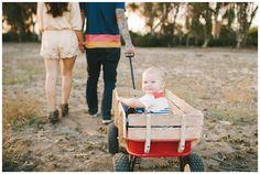 Phelans | family session photos | Eden Day Photography | one year old red wagon radio flyer la jolla eucalyptus