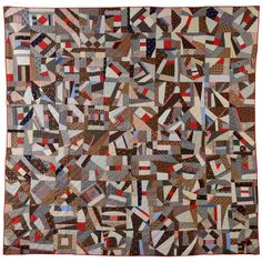 from 1880....Cotton Contained Crazy Quilt | From a unique collection of antique and modern quilts at http://www.1stdibs.com/furniture/folk-art/quilts/