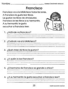 DINORAH SANTOS P.: LECTURA POR TIEMPO Spanish Exercises, Spanish Classroom Decor, Teacher Quotes, Spanish Lessons, Spanish Language, Reading Comprehension, Speech Therapy, Writing, Education